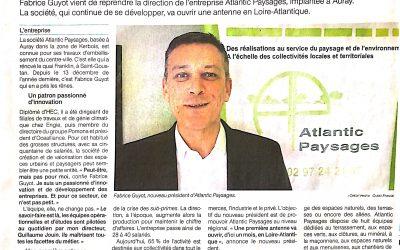 Atlantic Paysages poursuit son développement régional                                             (Ouest-France février2019)