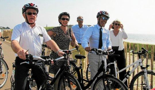 Inauguration de la voie verte de la presqu'île de Quiberon