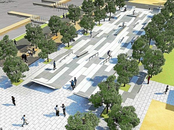 Skate park de la Rabine: Port de vannes