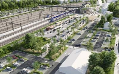 Projet d'aménagement extérieur de la gare d'Auray  (PEM Auray-Quiberon)