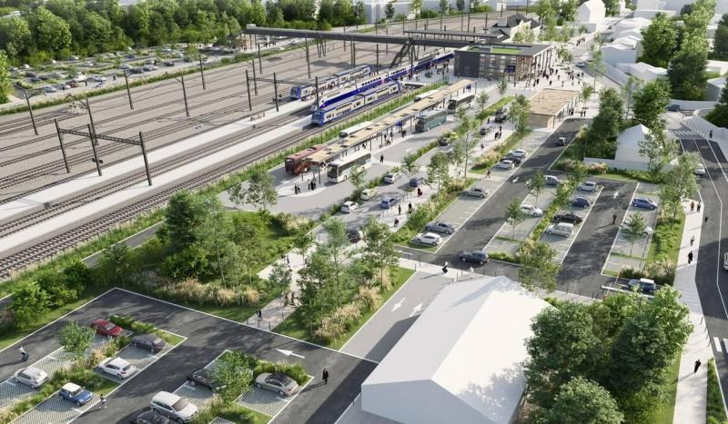 Projet d'aménagement en gare d'Auray Atlantic Paysages