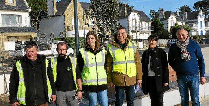 Boulevard de la Plage à Carnac : 5000 arbustes et vivaces plantés par Atlantic Paysages