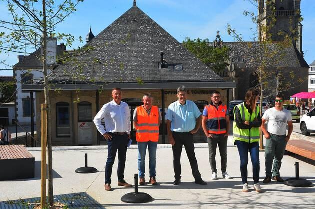 Rénovation de Carnac-Bourg par l'équipe d'Atlantic Paysage
